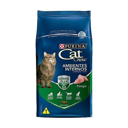 Ração Nestlé Purina Cat Chow para Gatos Ambientes Internos sabor Frango