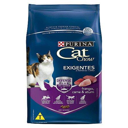 Ração Nestlé Purina Cat Chow para Gatos Exigentes sabor Frango, Carne e Atum 1kg
