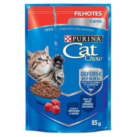 Ração Nestlé Purina Cat Chow Filhotes Sachê Carne ao Molho