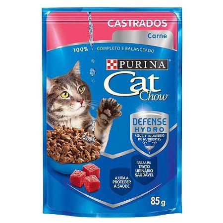 Ração Nestlé Purina Cat Chow Castrados Sachê Carne ao Molho