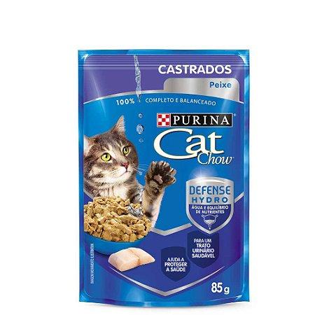 Ração Úmida Cat Chow Castrados Peixe Nestlé Purina 85g