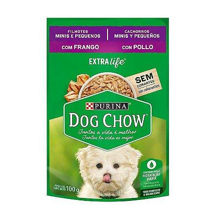 Ração Úmida Dog Chow Sachê para Cães Filhotes de Raças Pequenas sabor Frango 100g