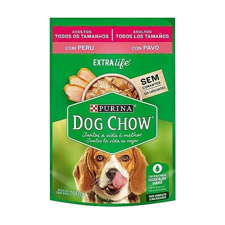 Ração Úmida Nestlé Purina Dog Chow para Cães Adultos Sabor Peru 100g