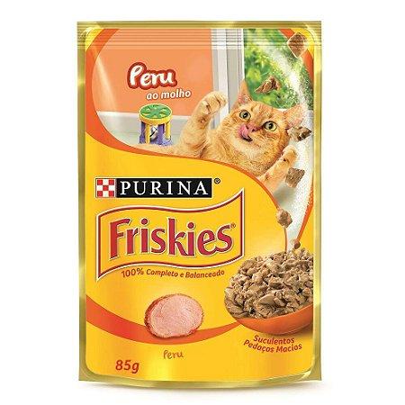 Ração Úmida Friskies Sachê para Gatos Adultos Sabor Peru ao Molho - 85g