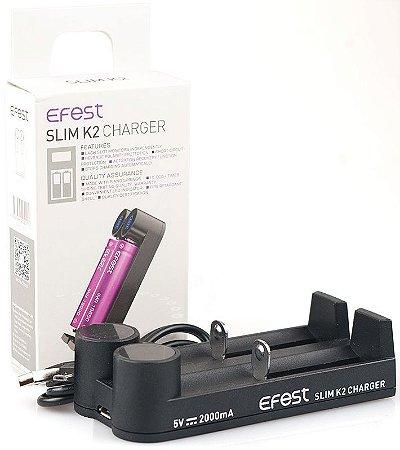 CARREGADOR SLIM K2 CHARGER - USB - EFEST
