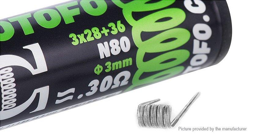 PREBUILT N80 ALIEN WIRES 0.30Ω PARA RTA / RDA - WOTOFO