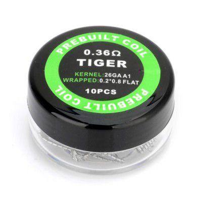 PREBUILT TIGER 0.36Ω PACK COM 10 - COIL'S PREBUILT COIL