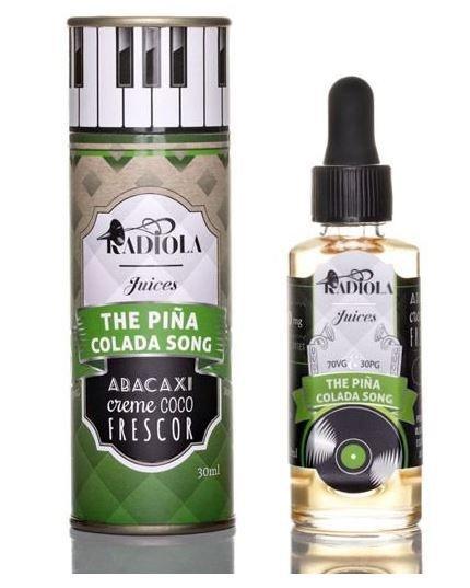 LIQUIDO THE PINA COLADA SONG - ABACAXI CREME COCO FRESCOR - RADIOLA JUICES