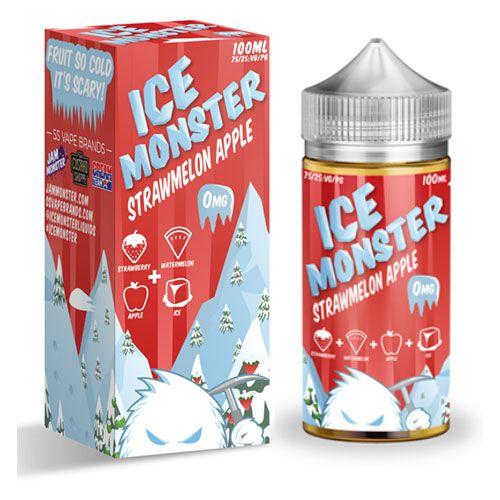 LIQUIDO ICE MONSTER STRAWMELON APPLE 100ML - JAM MONSTER