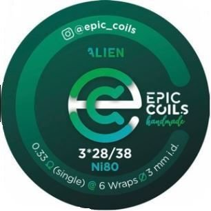 RESISTÊNCIA EPIC COILS ALIEN N80
