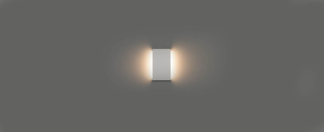 Arandela Reflex de Luz Indireta 20cm Bivolt  IP65 6W 450lm 2700K Alumínio 110° Cor Branco Stella STH21740BR/27