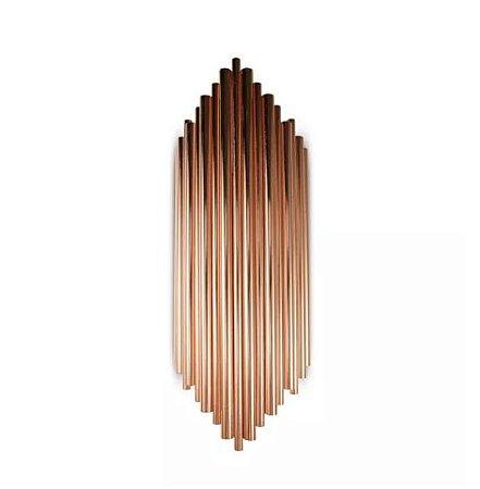 Arandela Pipe Metal 18x50cm 2xG9 Cor Cobre Mais Luz AR-119/2.50OR