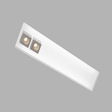 Embutido No Frame Box 290x650mm 4xT8 60cm +2GU10 MR16 Cor Branco Texturizado Usina 30434/65F BT