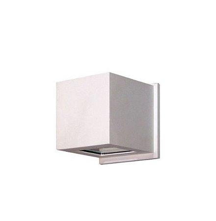 Arandela 1 Facho Alumínio e Vidro 11,5x11,5x12cm 1xG9 LED Cápsula Bivolt Itamonte Nac 237/1