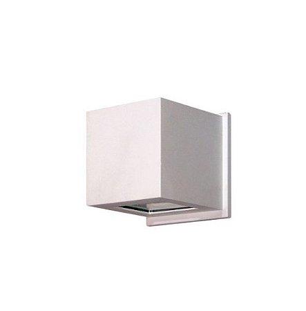 Arandela 2 Fachos Alumínio e Vidro 11,5x11,5x12cm 1xG9 LED Cápsula Bivolt Itamonte Nac 237/2