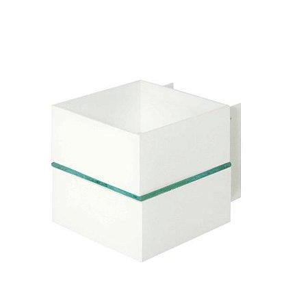 Arandela 1 Filete Alumínio e Vidro Transparente 11,5x11,5x09cm 1xG9 LED Cápsula Bivolt Itamonte Nac 255e