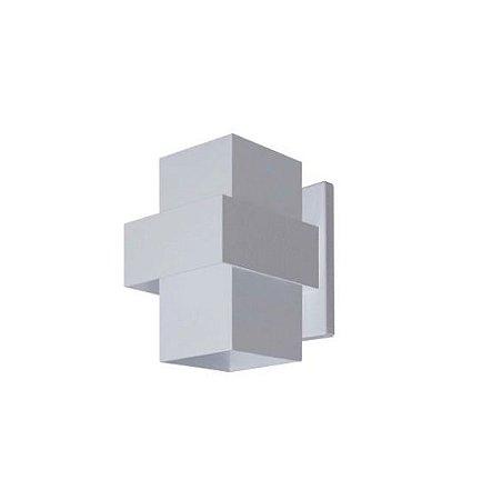 Arandela Efeitos Alumínio 11,5x15,5x11,5cm 1xG9 LED Cápsula Bivolt Itamonte Nac 254/1