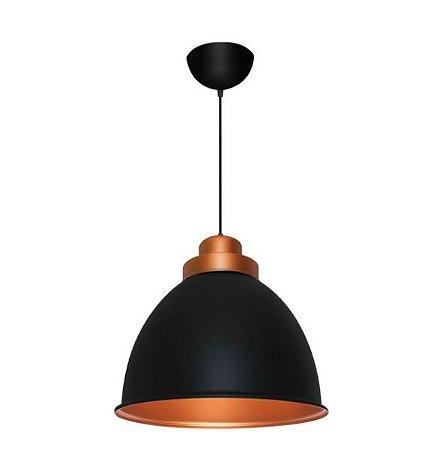 Pendente Decor Industrial Alumínio ø31x27cm 1xE27 LED Bulbo A60 Bivolt Itamonte Nac 433/31