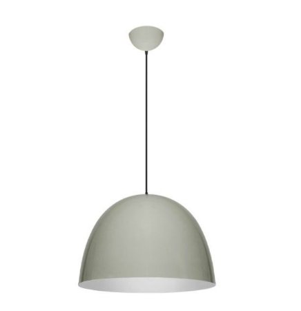 Pendente 1/2 Oval Alumínio ø55x38cm 1xE27 LED Bulbo A60 Bivolt Itamonte Nac 432/55