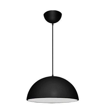 Pendente 1/2 Esfera Alumínio e Acrílico ø60x30cm 3xE27 LED Bulbo A60 Bivolt Itamonte Nac 435/60