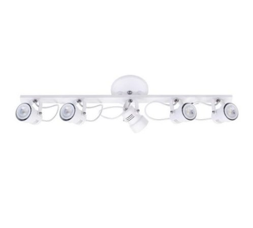 Spot Trilho Alumínio 12x91x15,5cm 5xGU10 LED MR16 Bivolt Itamonte Nac 1142/5T