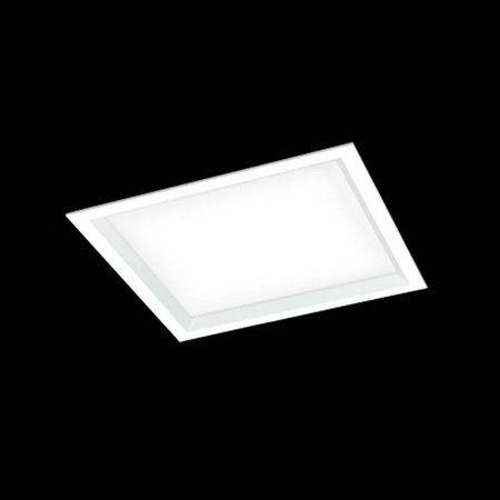 Luminária Embutir Square Alumínio Difusor Acrílico 50x50x10cm 6xE27 LED Bulbo A60 Bivolt Cor Branco Itamonte Nac 2026/50