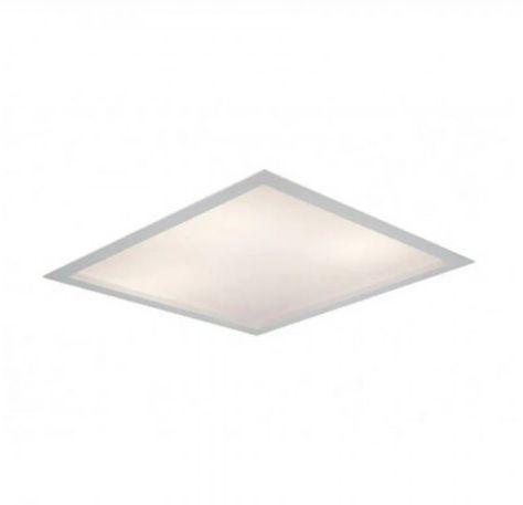 Luminária Embutir Square Alumínio Difusor Acrílico 20x20x10cm 1xE27 LED Bulbo A60 Bivolt Cor Branco Itamonte Nac 2027/20