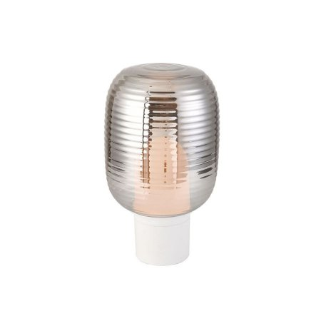 Luminária de Mesa Vetri Metal e Vidro Fumê 395x220mm 1xE27 Cor Branco Flavo FT1310FM