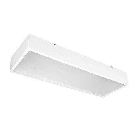 Luminária Sobrepor Square Alumínio e Acrílico 20x61x08cm 4xE27 LED Bulbo A60 Bivolt Cor Branco Itamonte Nac 3070/20