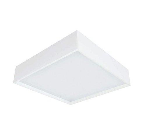 Luminária Sobrepor Square Alumínio e Acrílico 50x50x08cm 6xE27 LED Bulbo A60 Bivolt Cor Branco Itamonte Nac 3041/50