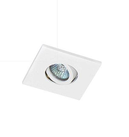 Spot Embutir Quadrado Alumínio 08x08x6,5cm 1xGU10 LED Mini Dicróica MR11 Bivolt Itamonte Nac 11004