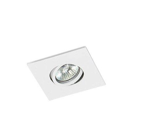 Spot Embutir Quadrado Alumínio 10,5x6,5cm 1xGU10 LED Dicróica MR16 Bivolt Itamonte Nac 11006