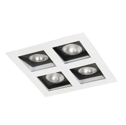 Spot Embutir Quádruplo Alumínio 23,5x23,5x11,1cm 4xE27 LED Par20 Bivolt Itamonte Nac 12003/4