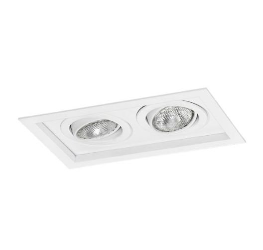 Spot Módulo Embutir Duplo Alumínio 17x28,5x11,1cm 2xE27 LED Par20 Bivolt Itamonte Nac 1012/2