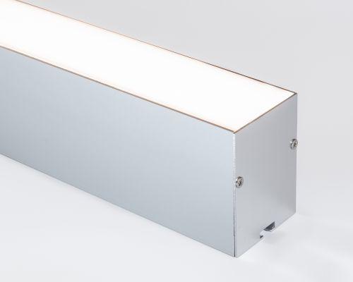 Perfil Pendente Hyper Alumínio Difusor Leitoso 05x07x250cm LED Cor Branco Revoled AP0901W
