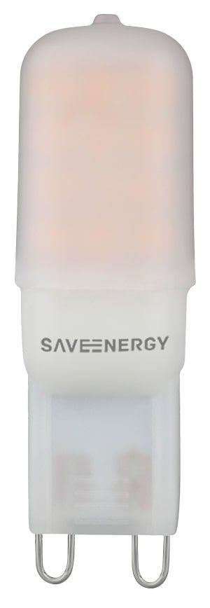 Lâmpada G9 2W 25W 2700K 320° 127V 180LM Saveenergy SE-265.507