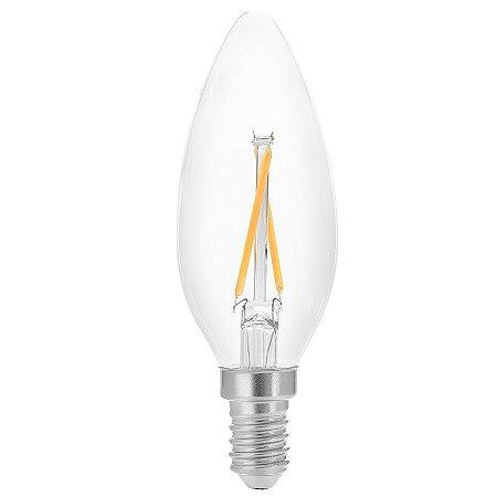 Lâmpada Vela Filamento E14 2W 25W 2400K 360° 220V 200LM Saveenergy SE-200.1029