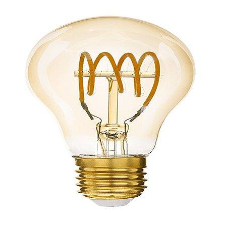 Lâmpada Bulbo Filamento Loop T E27 4W | 25W 2200K 360° Bivolt 280LM Saveenergy SE-345.1562