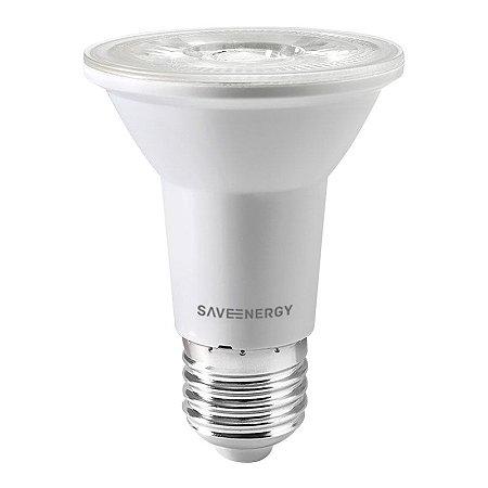 Lâmpada PAR20 Clear E27 7W 50W 6500K 38º Bivolt 650LM 1270CD Saveenergy SE-110.1461