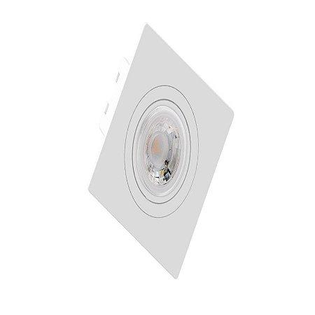 Embutido MR11 Quadrado Face Plana 70x70x35mm Cor Branco Saveenergy SE-330.1270