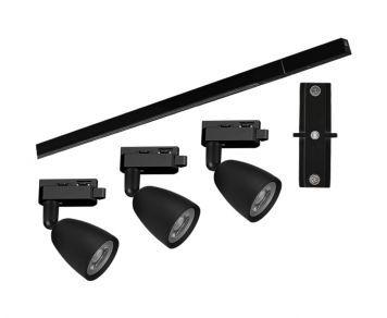 Kit Trilho Direct Led  MR16 18W 3000K 1000x35x19mm Taschibra 7897079084566