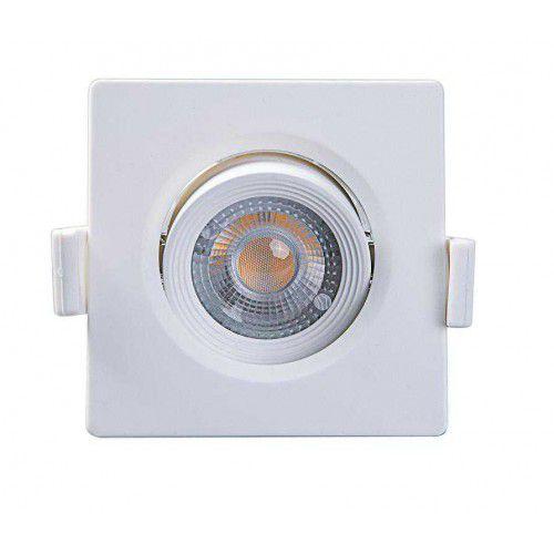 Spot Embutir Quadrado Alltop LED MR11 3W 6500K 75x75x45mm Taschibra 7897079083552