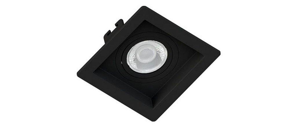 Embutido MR16 Quadrado Recuado Preto Sistema Click Saveenergy SE-330.1036