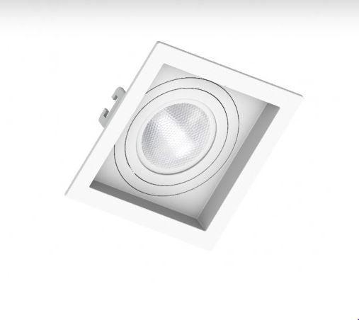 Embutido PAR20 Quadrado Recuado Branco Saveenergy SE-330.1040