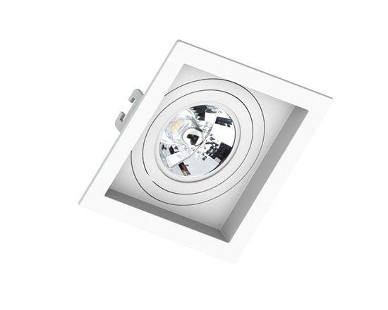 Embutido Quadrado Recuado AR70 130x130x35mm Cor Branco Saveenergy SE-330.1048