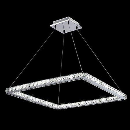 Pendente Aço Cromado - Cristal Translúcido Mais Luz PE-004/36.67