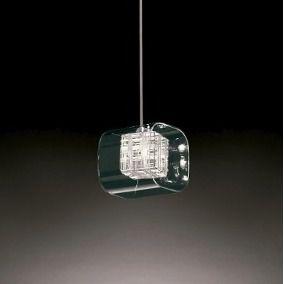 Pendente Chess Cube Metal e Vidro 12x12x17cm 1xG9 40W Bivolt Cor Cromado e Transparente Casual Light 185