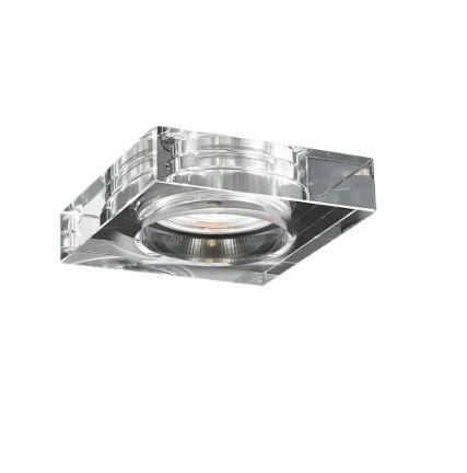 Spot de Embutir Aço, Vidro 6,5x6,5x3,5cm 1xGU10 35W Transparente Mais Luz SE-008/1.6