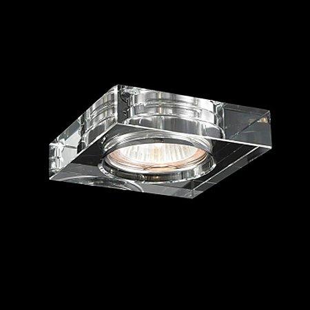 Spot de Embutir Aço Cromado - Cristal Translúcido Mais Luz SE-008/1.10