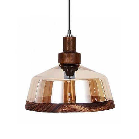 Pendente Timber Lampo 30x15,5cm 1xE27 60W Cor Âmbar Casual Light 461